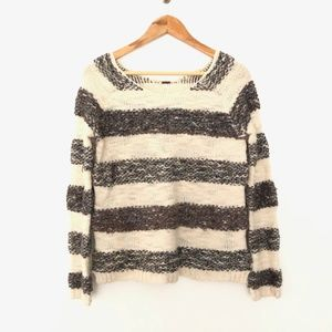 Free People Striped Knit Sweater XS
